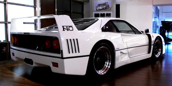 ferrari-f40-white-rear