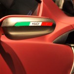 Alfa Romeo 4C 300bhp wing mirror detail with side vents carbon