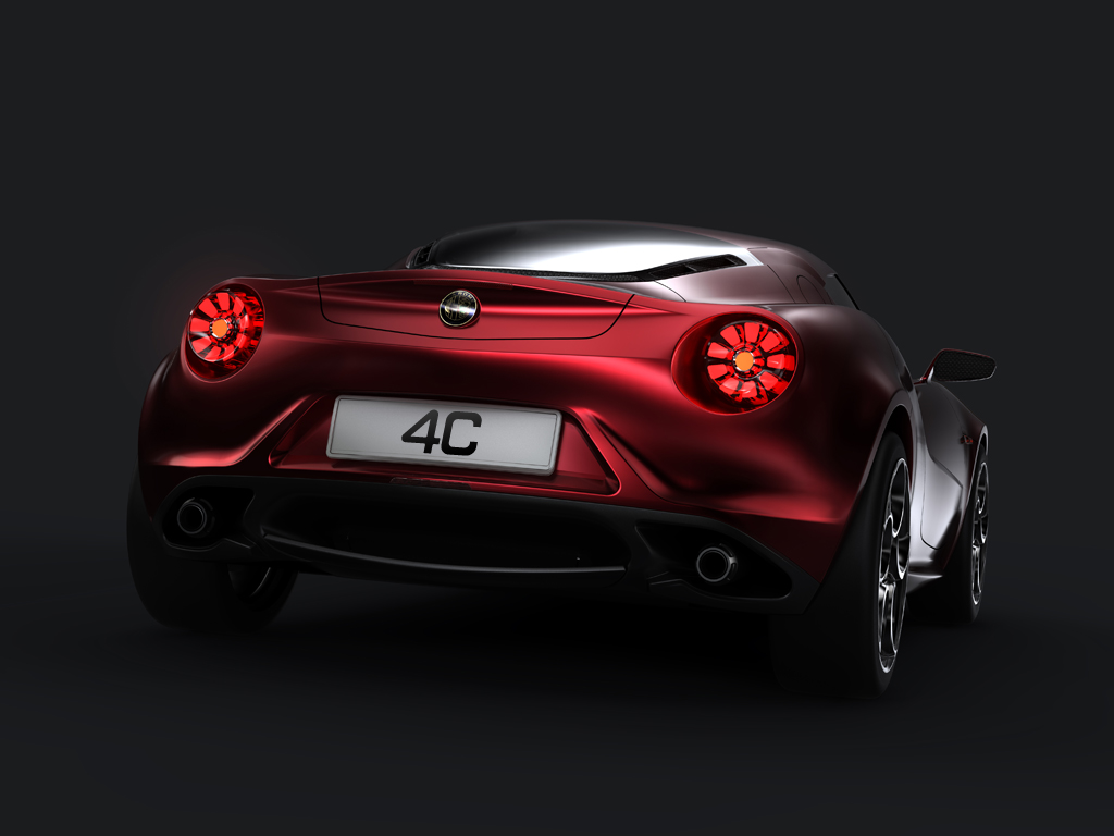 Alfa Romeo 4C Carbon Rear Red Lights Exhaust
