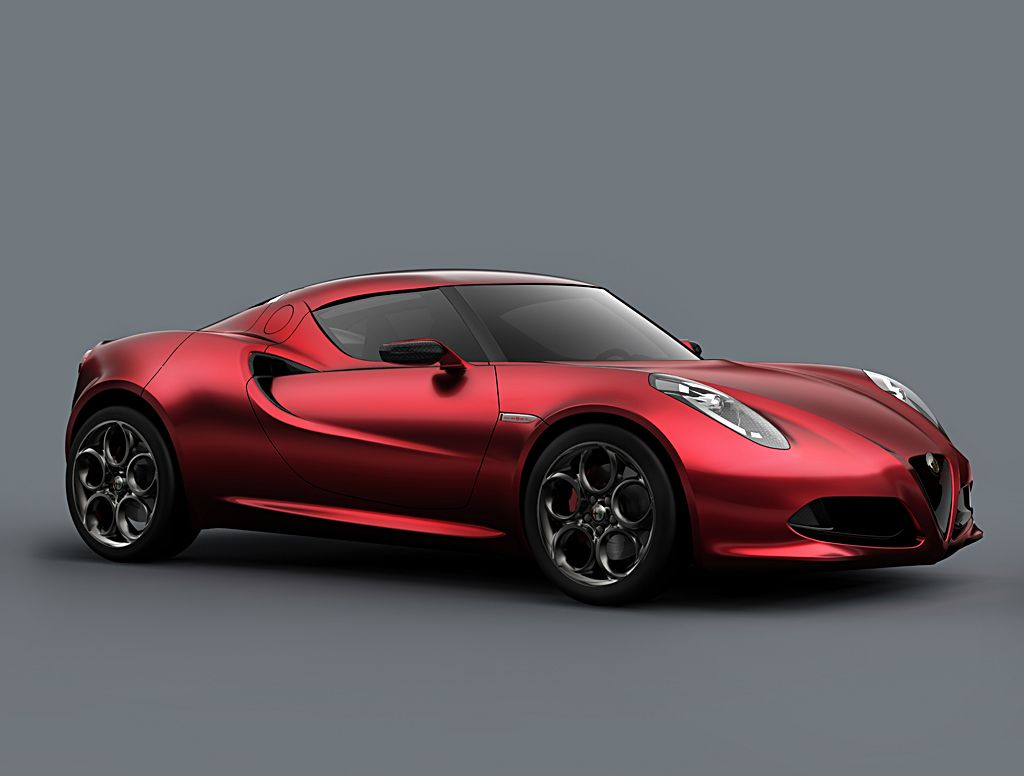 Alfa Romeo 4C Carbon Red Front