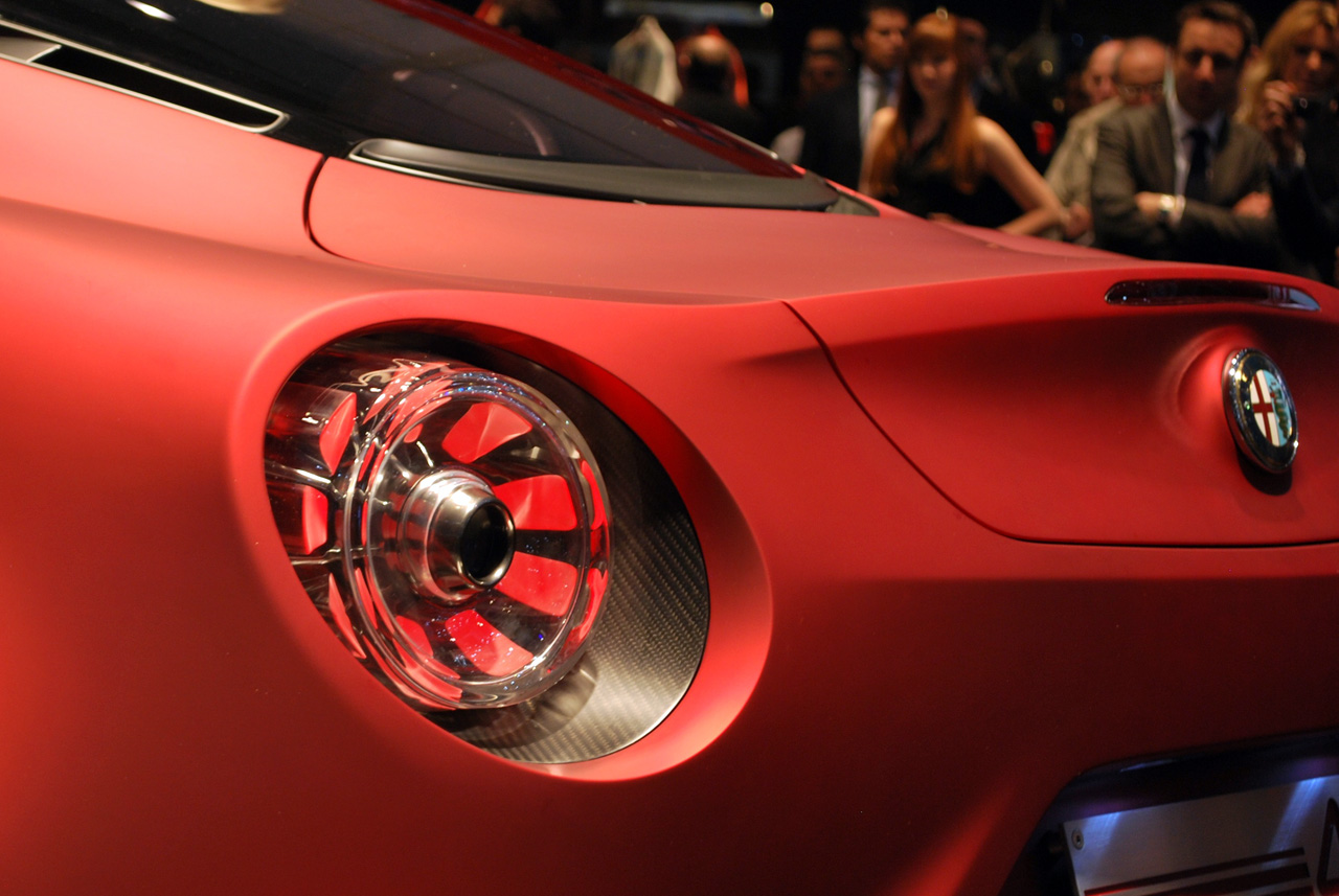 Alfa Romeo 4C Carbon Red Rear Light Detail Carbon