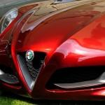 Alfa Romeo 4C Cherry Red Metallic Concorso d'Elegance Villa d'Este 2012 front low