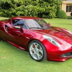 Alfa Romeo 4C Cherry Red Metallic  Concorso d'Elegance Villa d'Este 2012 front os