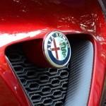 Alfa Romeo 4C Cherry Red Metallic Concorso d'Elegance Villa d'Este 2012 grill closeup