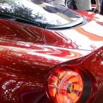 Alfa Romeo 4C Cherry Red Metallic Concorso d'Elegance Villa d'Este 2012 light rear detail