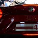 Alfa Romeo 4C Cherry Red Metallic Concorso d'Elegance Villa d'Este 2012 rear low
