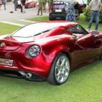 Alfa Romeo 4C Cherry Red Metallic Concorso d'Elegance Villa d'Este 2012 rear os