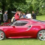 Alfa Romeo 4C Cherry Red Metallic  Concorso d'Elegance Villa d'Este 2012 side