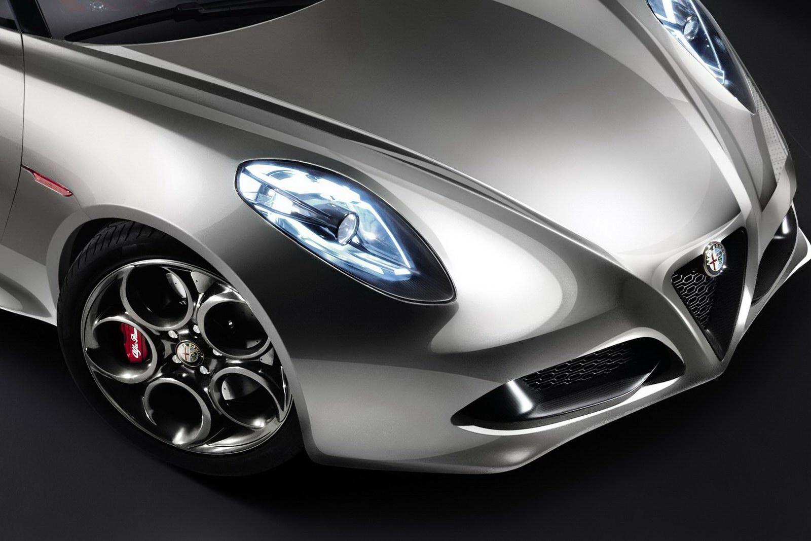 Alfa Romeo 4C Front Detail Liquid Silver