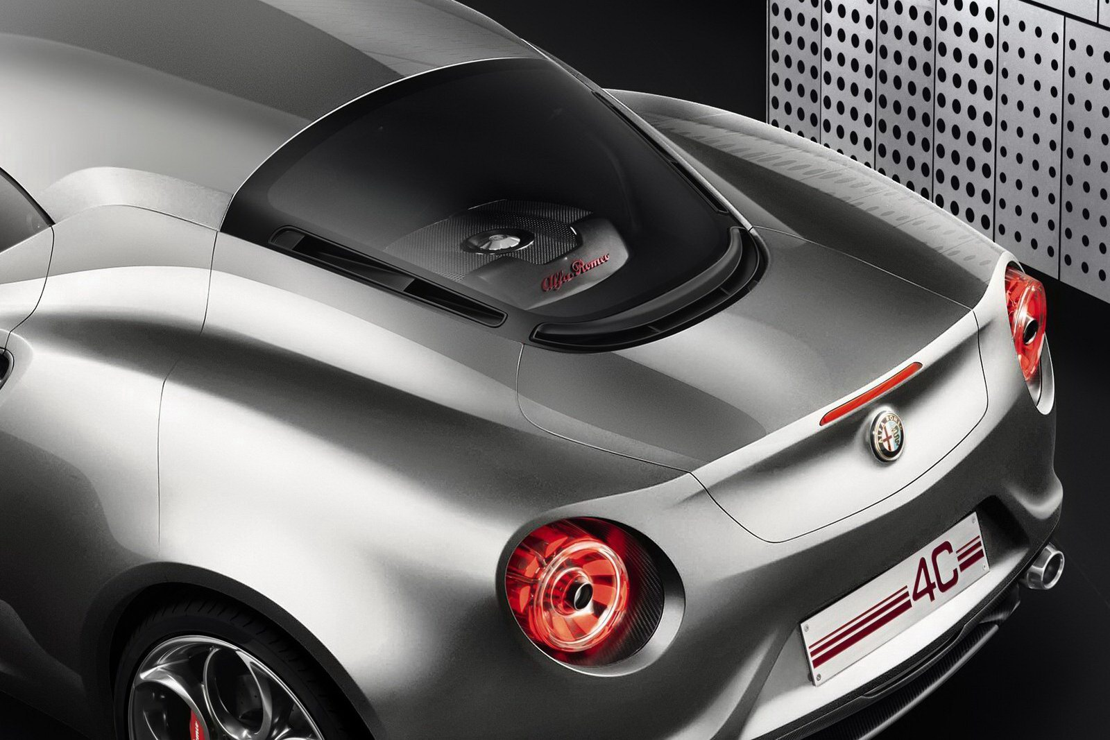 Alfa Romeo 4C Rear Detail Liquid Silver