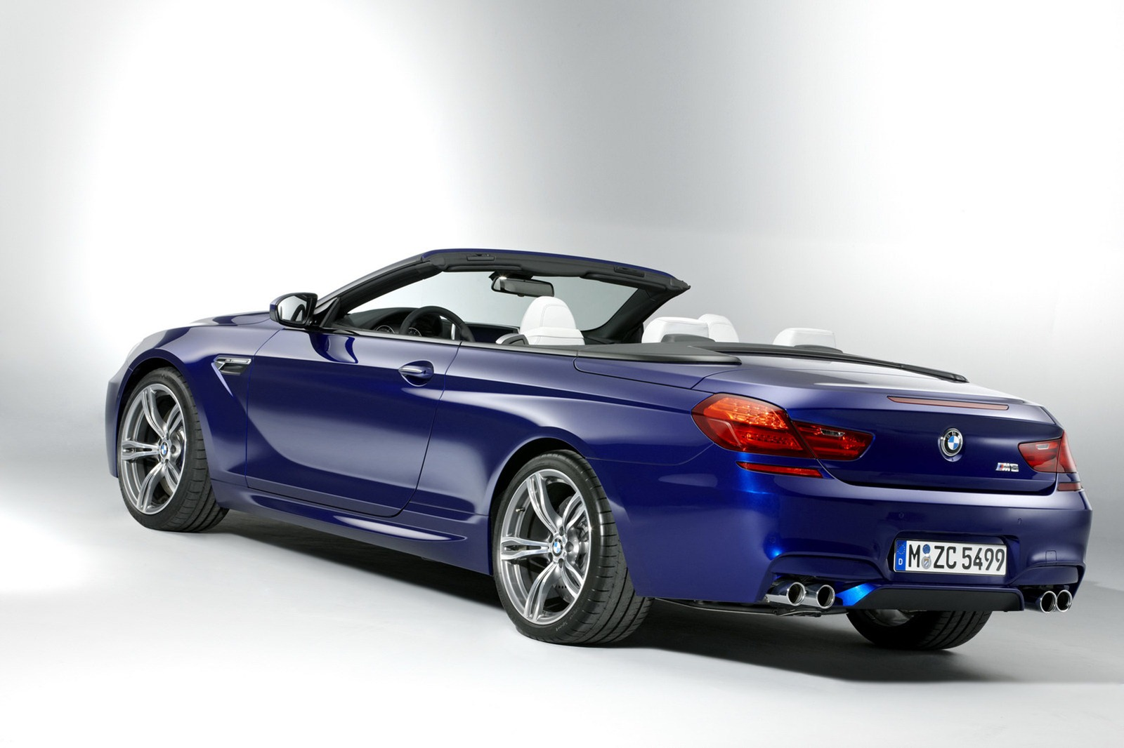 BMW M6 F12 Convertible 2012 rear angle quad exhausts