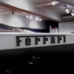 Ferrari F40 White detail rear bonnet badge