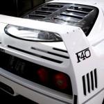 Ferrari F40 White engine cover