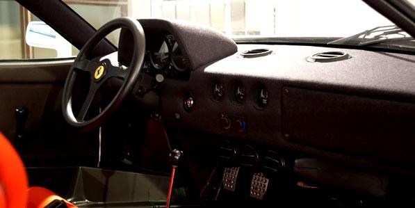 Ferrari F40 White interior steering wheel