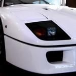 Ferrari F40 White light closeup