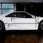 Ferrari F40 White profile