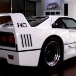 Ferrari F40 White rear