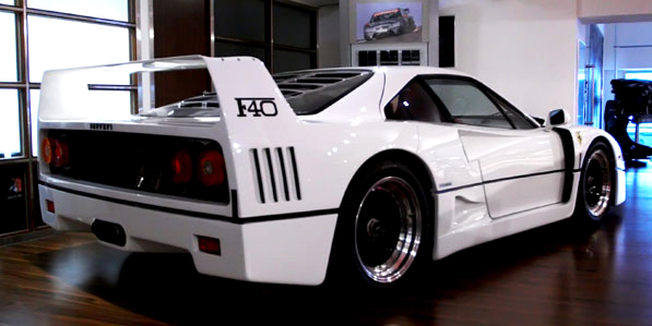 Ferrari F40 White Rear Revival Sports Cars