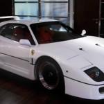 Ferrari F40 White side profile