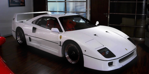 Ferrari F40 White side profile