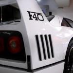 Ferrari F40 White side wing profile