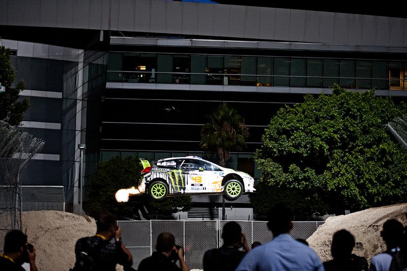Ken Block Ford Fiesta 2011 Gymkhana 4 jump