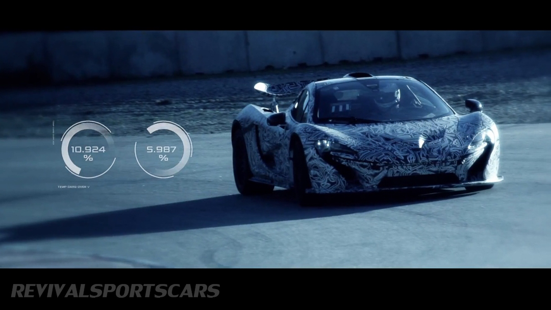 McLaren P1 Nurburgring Testing High Resolution Front Angle with graphics overlaid