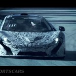 McLaren P1 Nurburgring Testing High Resolution Front on track mid testing closeup