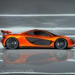McLaren P1 Paris Concept Hi Resolution Side Profile Spoiler Up