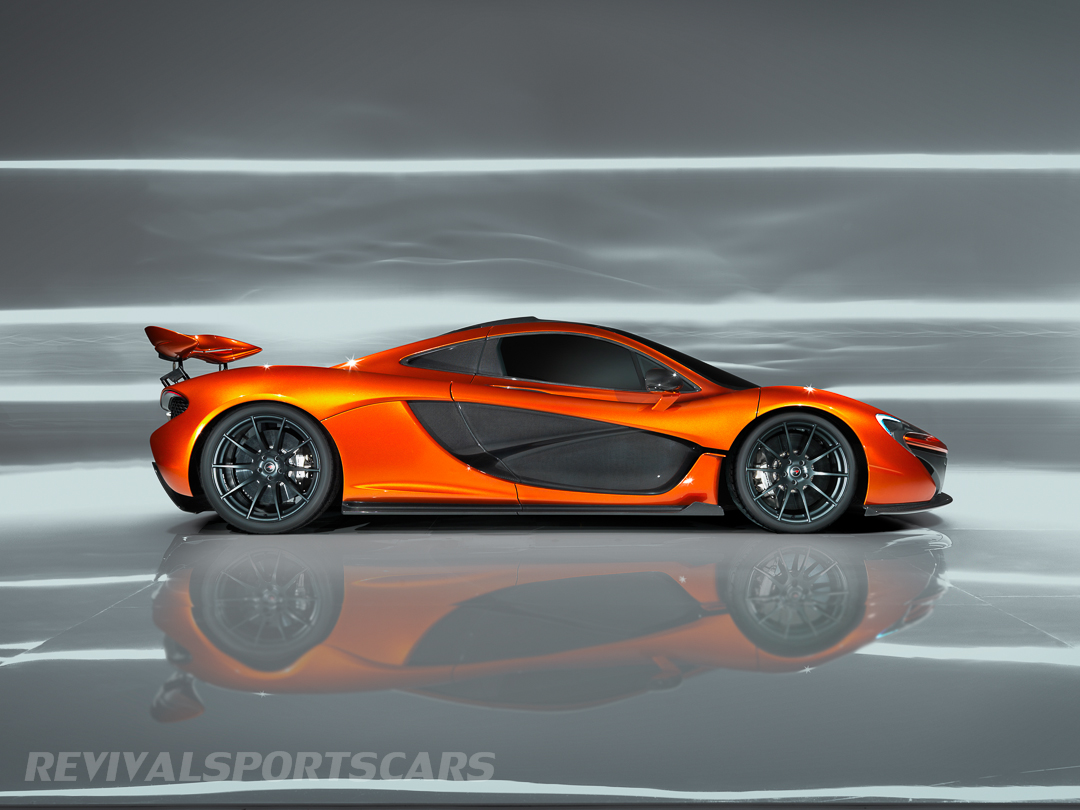 McLaren P1 Paris Concept Hi Resolution Side Profile Spoiler Up