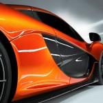 McLaren P1 Paris design concept - carbon side closeup door