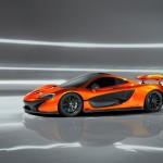 McLaren P1 Paris design concept - profile with wing raised