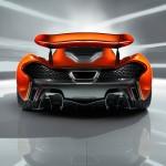 McLaren P1 Paris design concept - rear low wing raised