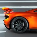 McLaren P1 Paris design concept - rear quarter closeup alloy wheel