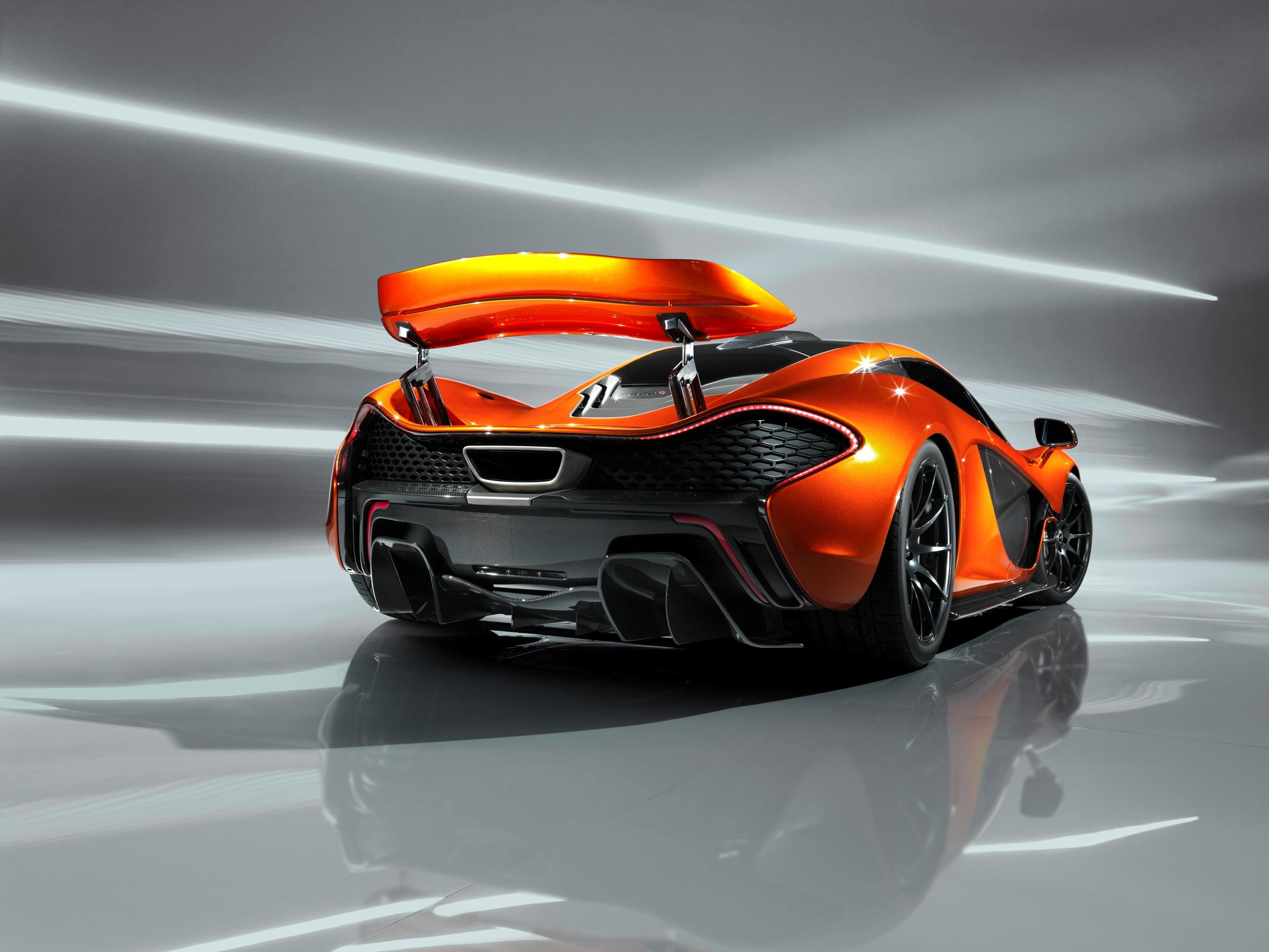 McLaren P1 Paris design concept - rear wing raised