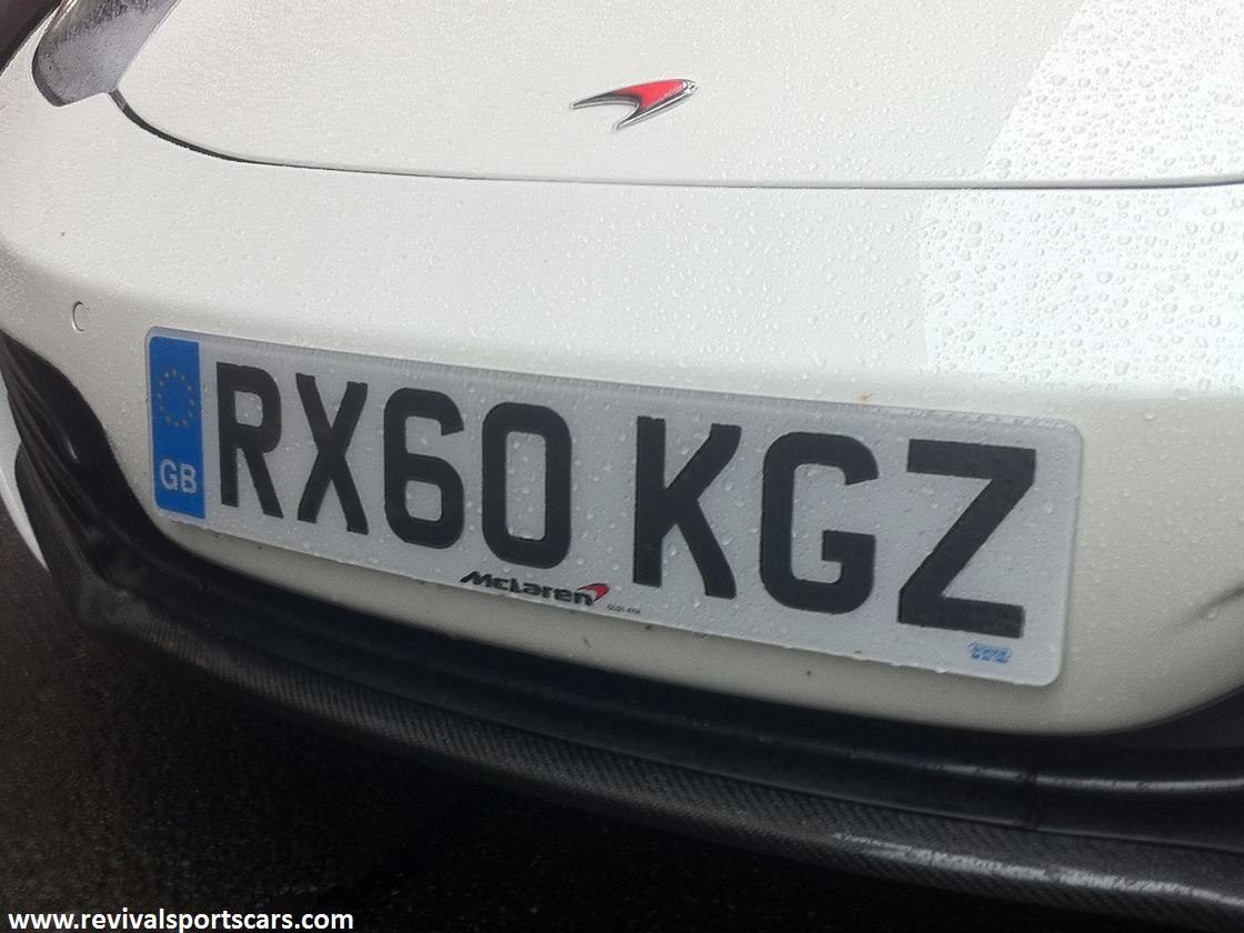 Mclaren MP4-12C White number plate