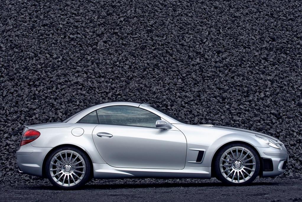 Mercedes Benz SLK 55 AMG F1 Side alloys brakes profile