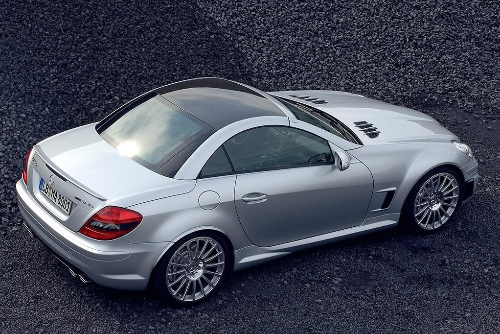 Mercedes benz slk 55 amg f1 metal roof rear profile for Mercedes benz slk series