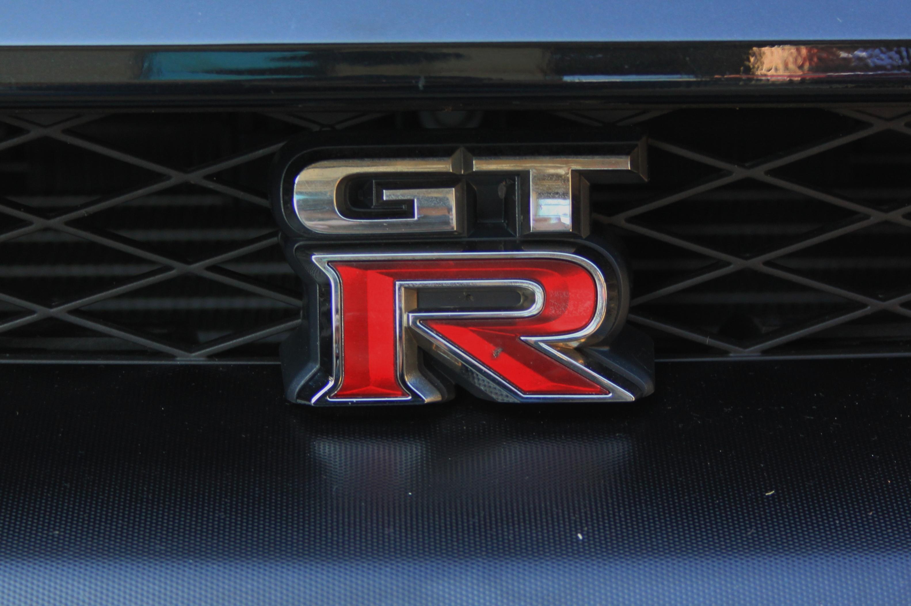 Nissan GTR 2012 R35 Black Edition Grill Badge