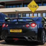 Nissan GTR 2012 R35 Black Edition Slow sign