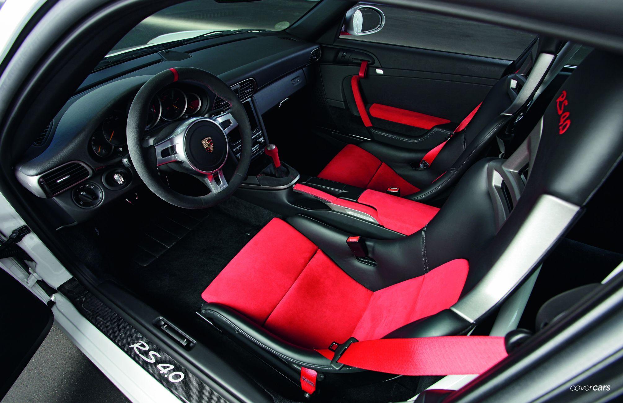Porsche 911 GT3 RS 4.0 Interior Driver Red Carbon Seats