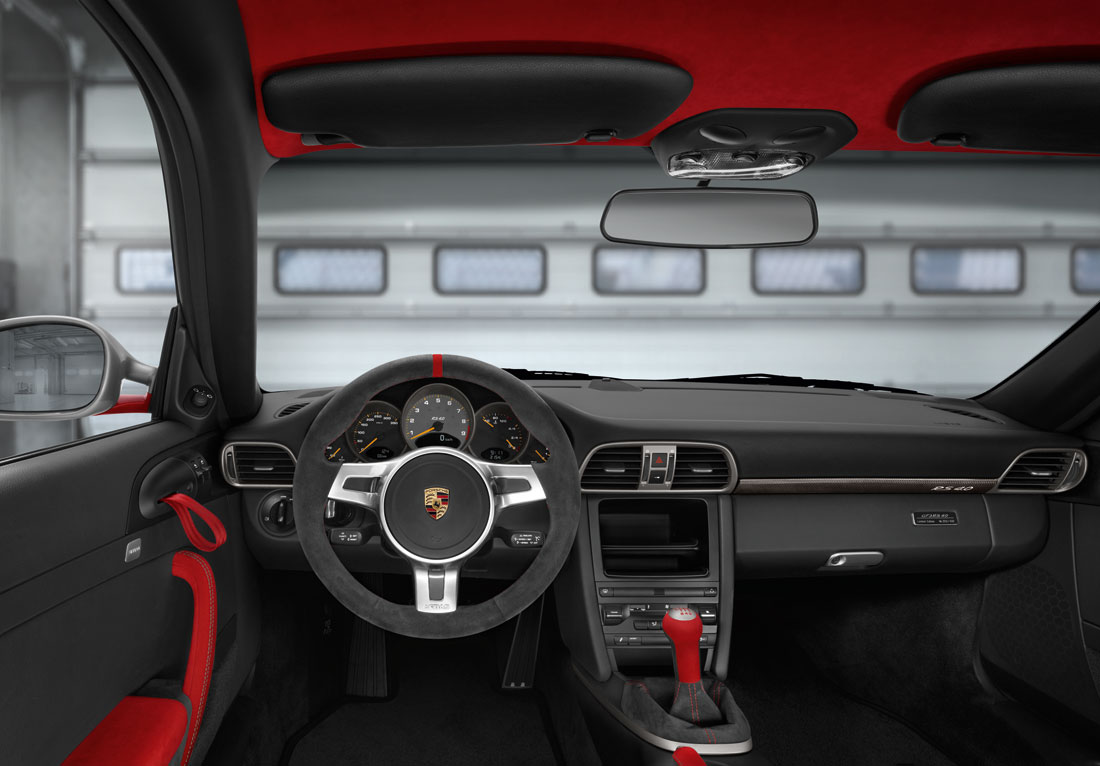 Porsche 911 GT3 RS 4.0 Interior Driver View Steering Wheel