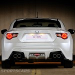 Toyota GT86 TRD upgrades UK 2013 rear detail quad exhaust