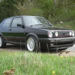 VW Golf GTI 1.8 mk2 - new wheels fitted original suspension