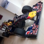 Vettel 2010 F1 Car RB6 in Mayfair London - Front angle