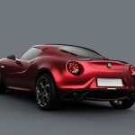 Alfa Romeo 4C Carbon Concept Red Rear