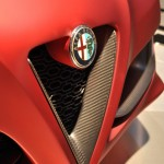 Alfa Romeo 4C Red Front Grill Carbon Detail