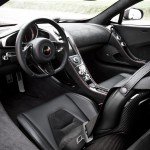 McLaren MP4-12C 2012 black dashboard