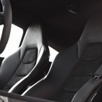 McLaren MP4-12C 2012 black seat detail