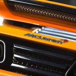 McLaren MP4-12C 2012 bright orange rear badge detail